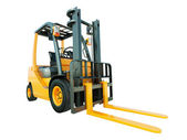 Photo Forklift truck isolated