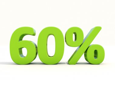 60 percentage rate icon on a white background