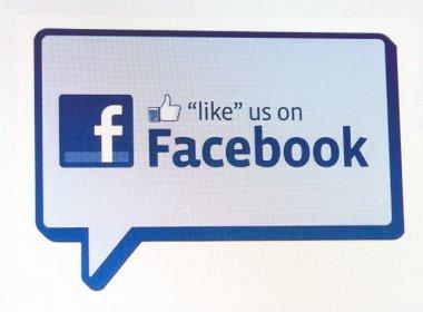 Screenshots of like us on Facebook sign