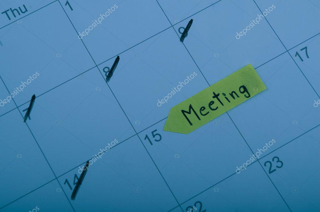 Calendrier Definition.Definition D Une Date De Reunion Au Calendrier