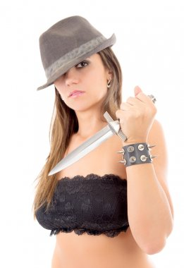 Killer woman with knife