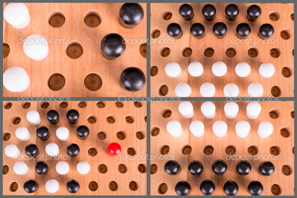 Chinese checkers wooden board set
