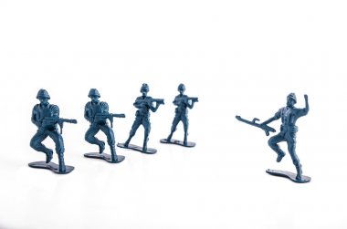 Toy soldiers white background