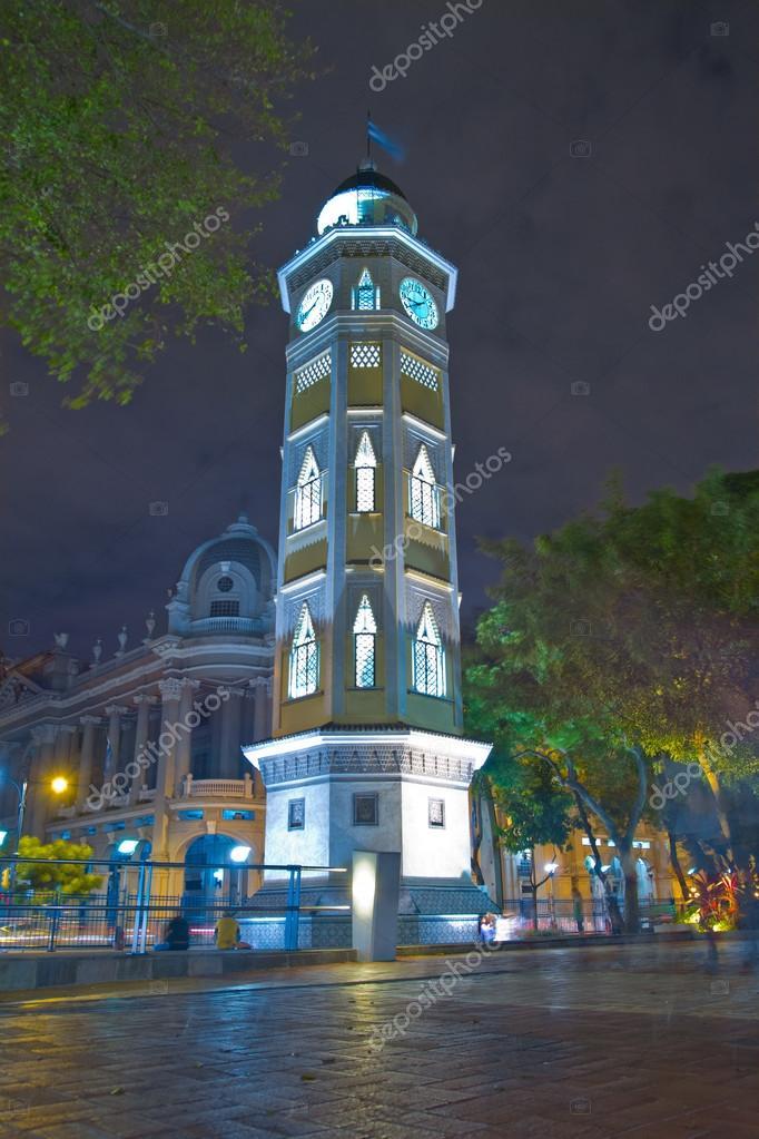 Torre del reloj Guayaquil, Ecuador Malecon 2000