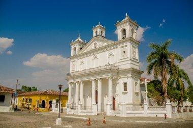 Main square church, Suchitoto town in El Salvador