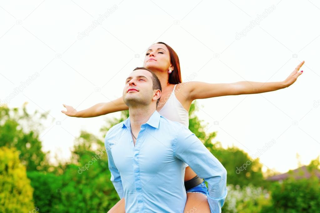 Couple enjoying their lifes