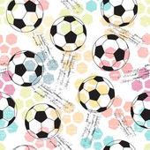 Fotografia sfondo con stampa e soccer ball