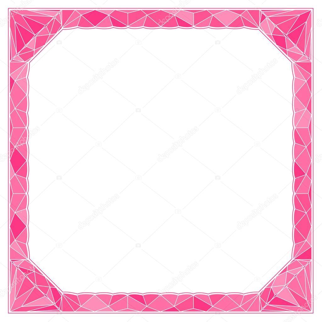 marco con diamante — Archivo Imágenes Vectoriales © Emukhin #39325515