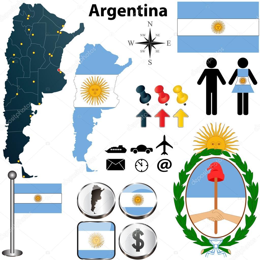 Argentina Map Stock Vector Sateda - Argentina map shape