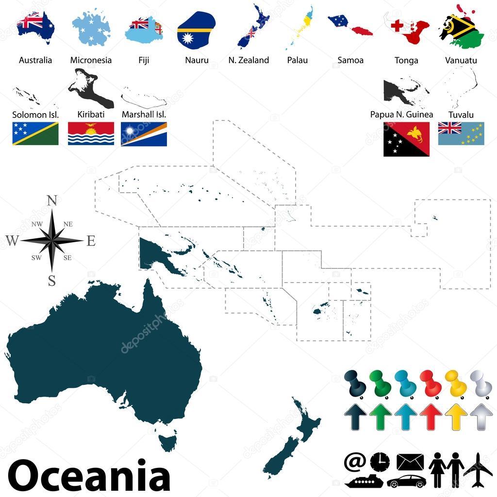 Political map of Oceania Stock Vector sateda 47669153