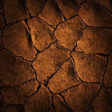 Texture earth cracked because of drought