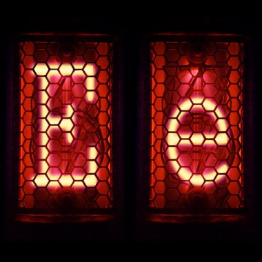 Nixie tube indicator set of letters the whole alphabet. The letter