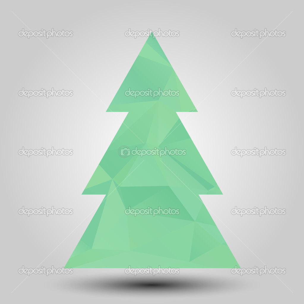 vector christmas tree triangle lights background card design