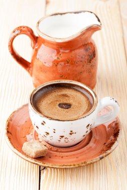 Сup of coffee espresso with cream