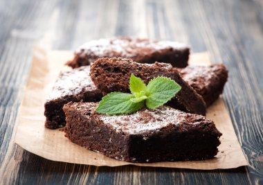 Cake chocolate brownies