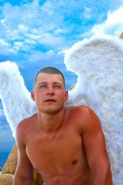 Man Wearing Angel Wings