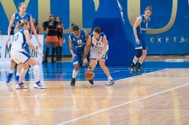 MOSCOW - APRIL 1: Svetlana Abrosimova (number 25) Dynamo
