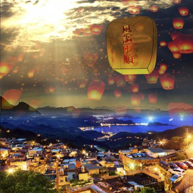 Sky lantern in Lantern Festival
