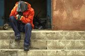 Fotografie homeless person