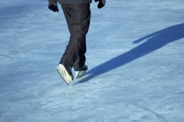 Ice skating stock vector