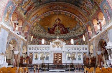 Interior of Saint Andrew Basilica of Patras