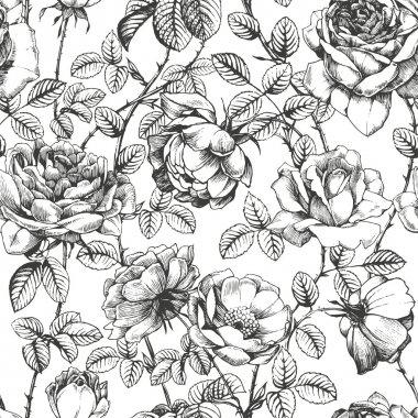 Rose pattern white