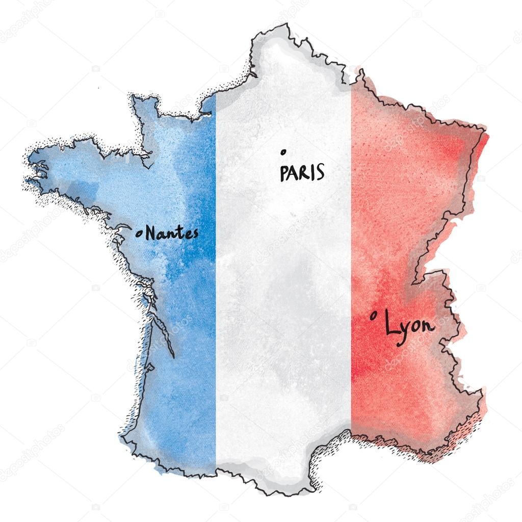 Afbeeldingsresultaat voor franse vlag tekening
