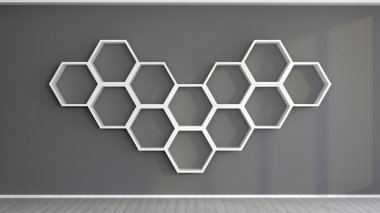 hexagonal shelves