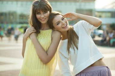 Cheerful young women