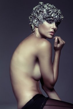 Art picture of naked sensual woman