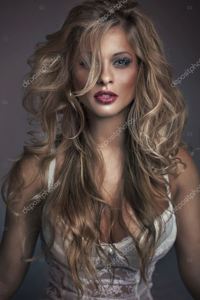 Great shot of attractive woman face