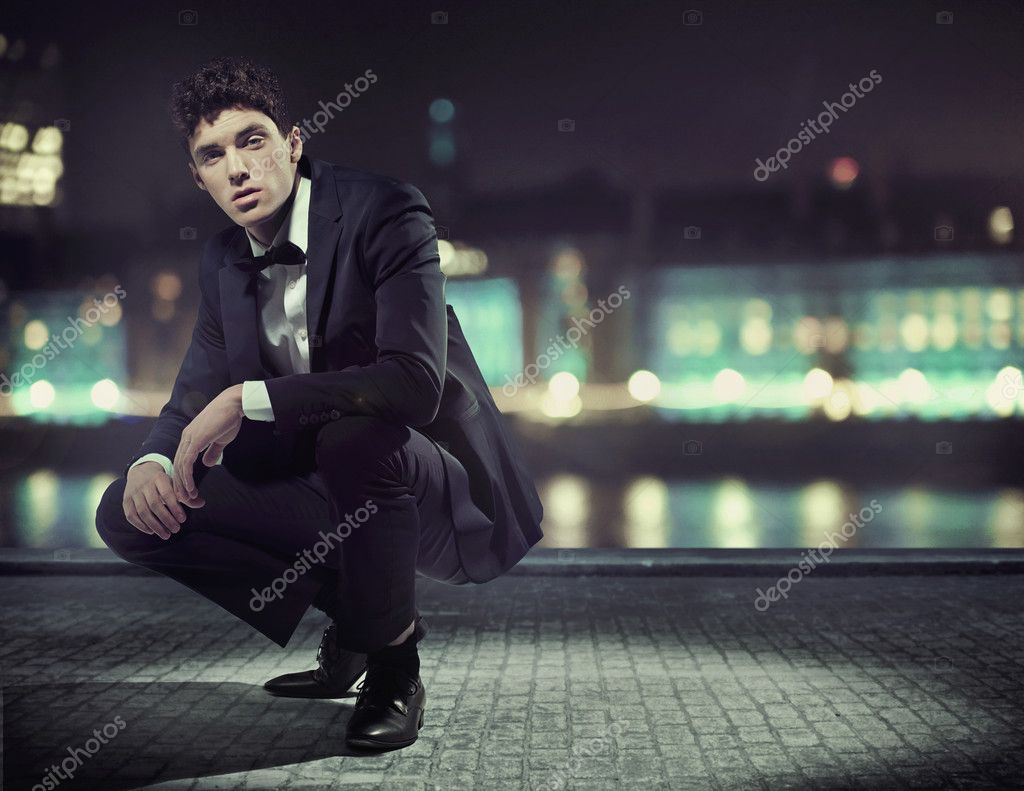 Handsome young man with great tuxedo