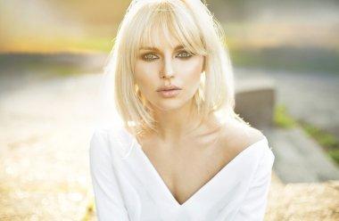 Portrait of beautiful clear skin lady