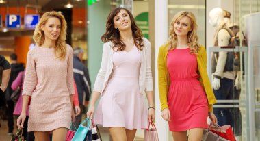 Three ladies during the shopping day
