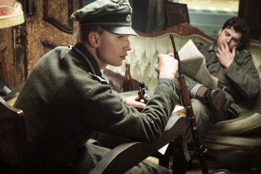 Two german soldiers during the break