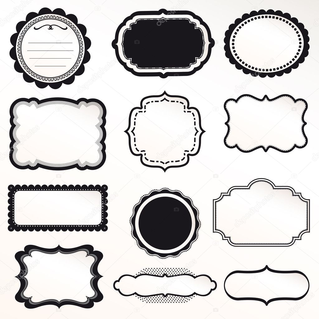 Vector Frame Set ornamental vintage decoration — Stock Vector ...