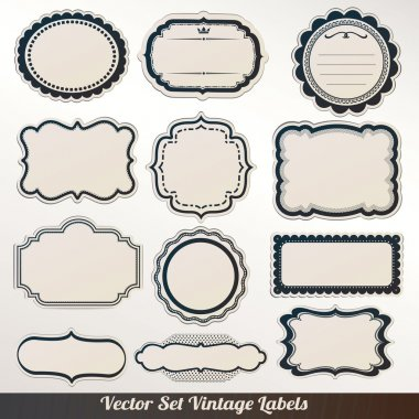 Vector Frame labels Set ornamental vintage decoration clip art vector