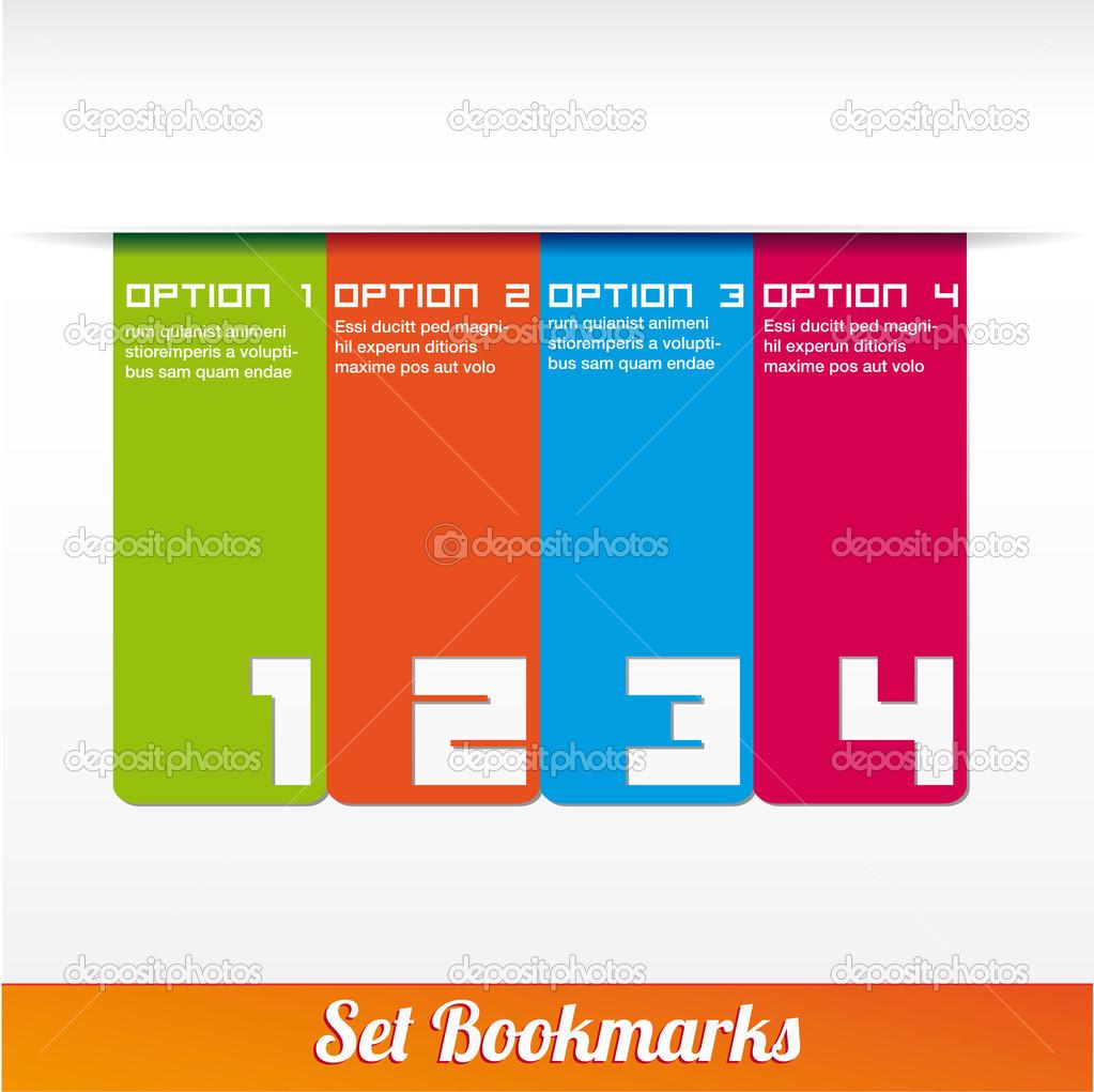 Lesezeichen-Symbol set Vorlagen Vektor — Stockvektor © alvaroc ...