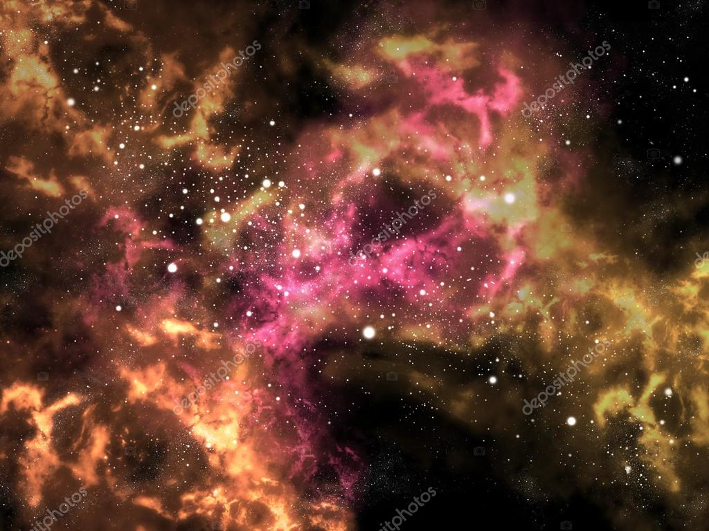 Orion in the universe with star background