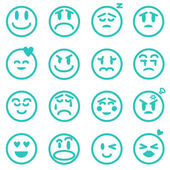 Emotion icons set, Vector illustration EPS version 8