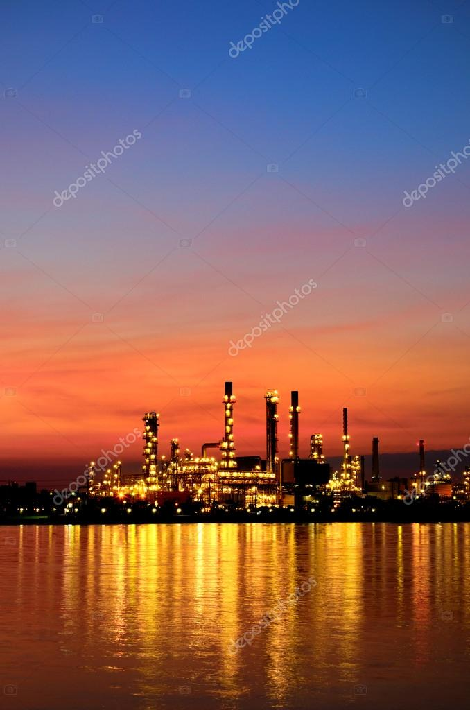 Sunrise scene of Oil refinery