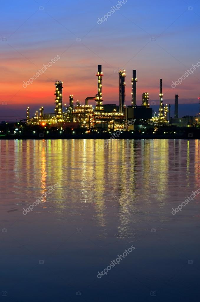 Sunrise scene of Oil refinery