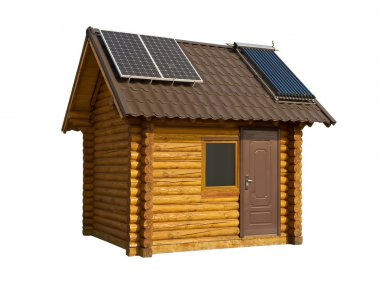 Eco-friendly wooden house
