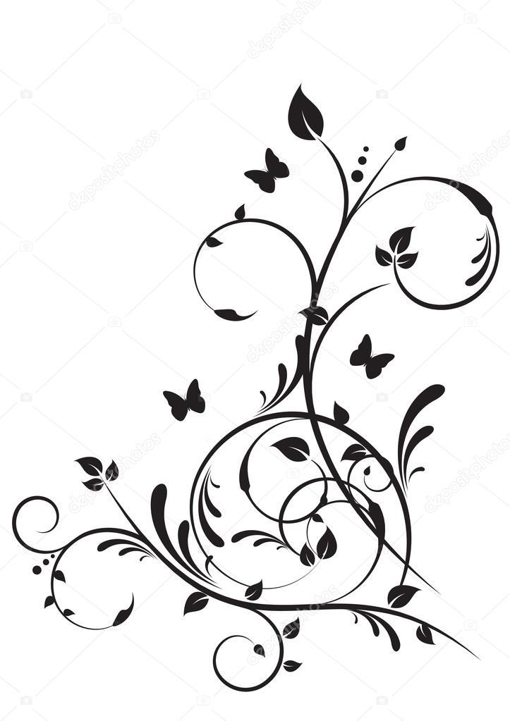 disegni decorativi floreali vettoriali stock rach27