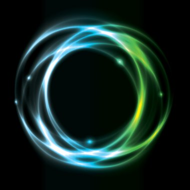 Glowing Circle Background Design