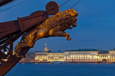 View of the Palace Embankment. St. Petersburg. Russia