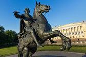 Památník bronzovou jezdec v Petrohradu