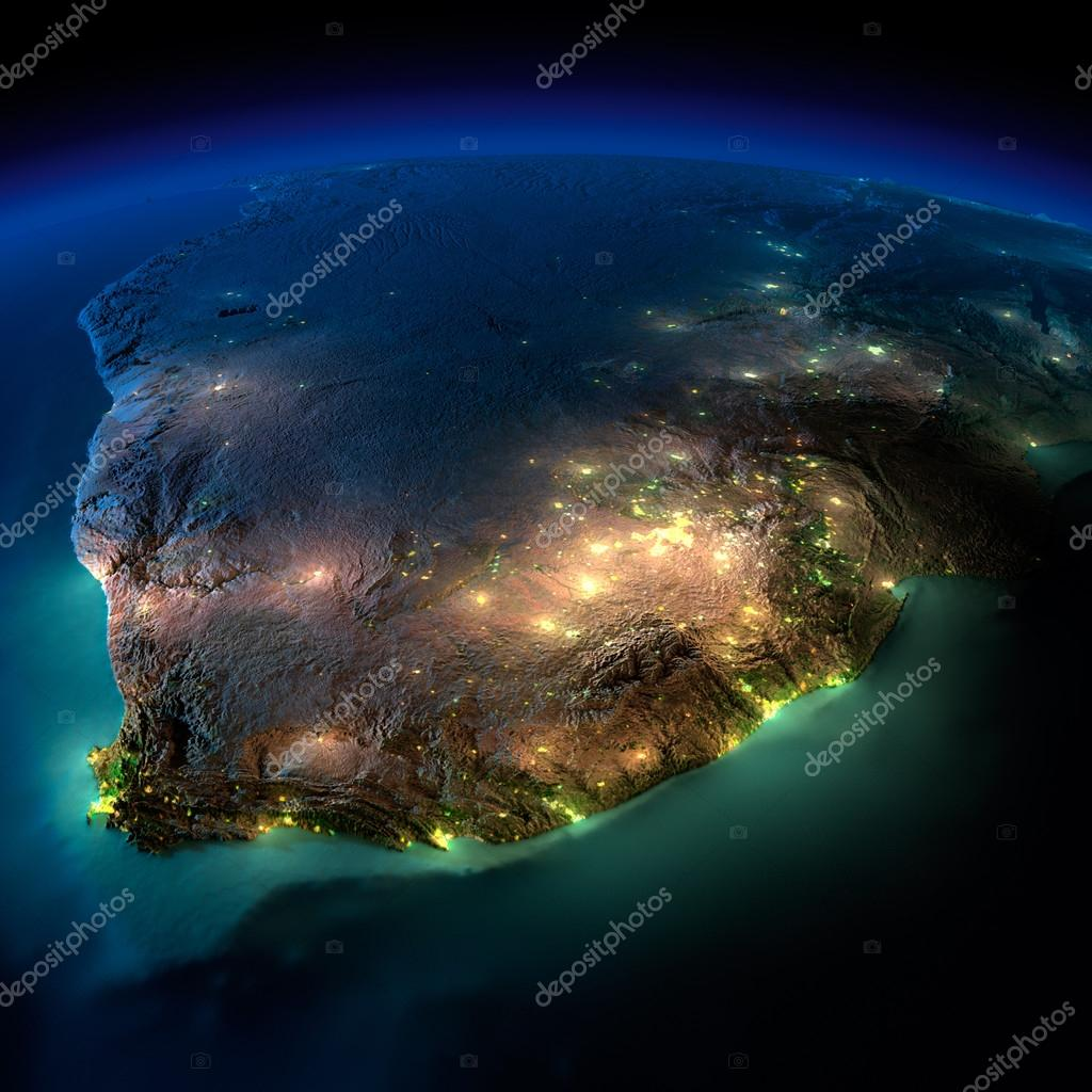 Night Earth. South Africa