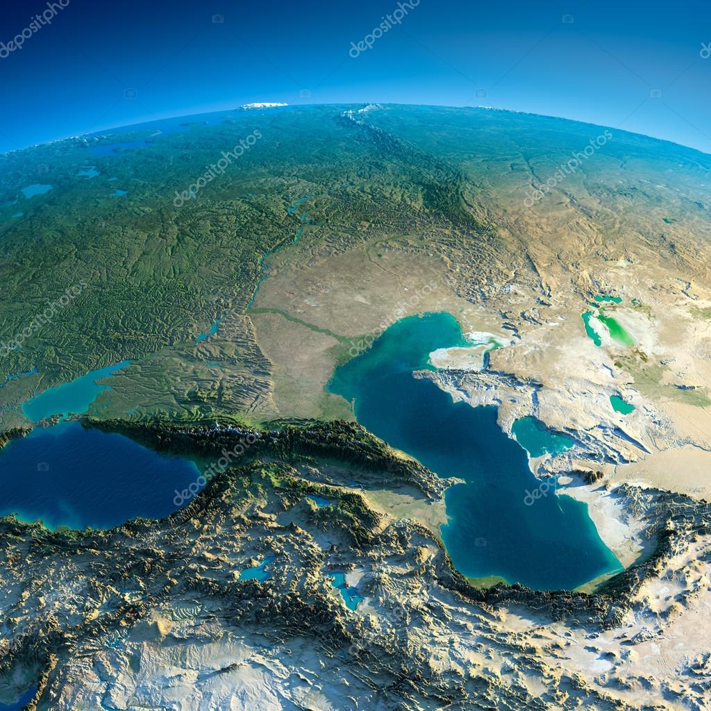 Detailed Earth. Caucasus