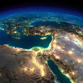 éjszaka a földön. Afrika és a Közel-Keleten
